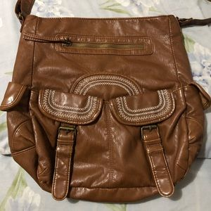 Handbags - Brown faux leather shoulder bag